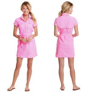 Vineyard Vines Dresses & Skirts - Vineyard Vines Pink Gingham Harbor Shirt Dress