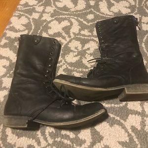 Stevies Shoes - Black Combat Boots Size 7.5