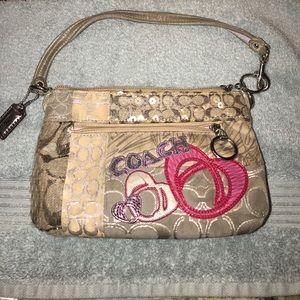 Coach Handbags - Sequin Coach wristlet