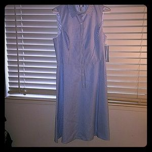 London Times Dresses & Skirts - NWT! *Blue and White Striped Collared Dress*