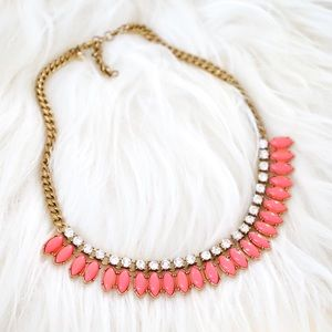 J.Crew Neon Pink Crystal Necklace