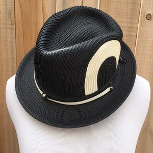 Everybody's Laughing on Planet Earth Other - 🆕 Black & Cream Fedora