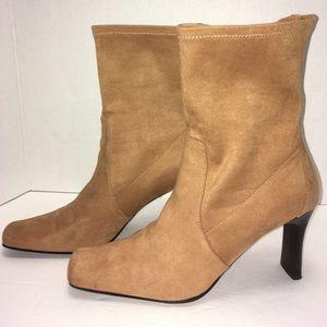 Karen Scott Shoes - Karen Scott ankle boots tan suede. Size 9.5