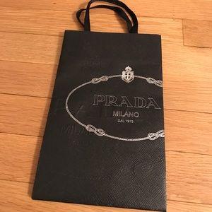 Small Prada shopping bag with ribbon