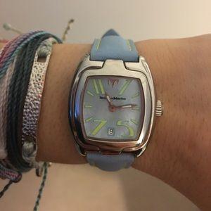 Technomarine Accessories - TechnoMarine blue and yellow watch