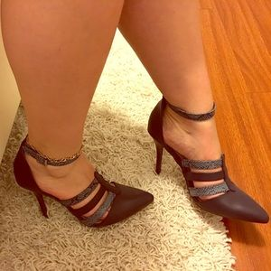 Sophia & Lee Shoes - Light and navy blue strappy heels