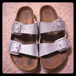 Birkenstock Shoes - Birkenstock Arizona Silver Pebbles