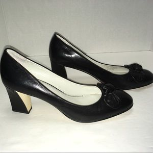 "Franco Sarto Shoes - Franco Sarto black 3"" heels w/ bow - all day shoes"