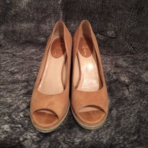 Cole Haan Shoes - Cole Haan tan/mustard seed suede Wedges size 6.5