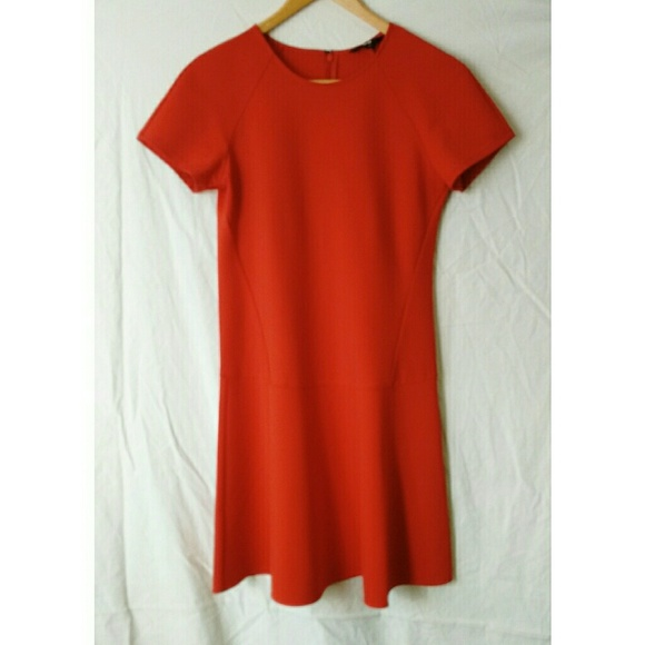 Uniqlo Dresses Red Skater Dress Size Medium Poshmark