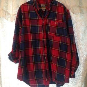 Cambridge Satchel Tops - Oversized colorful flannel.