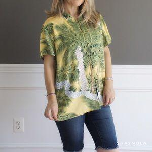 Hilo Hattie Mandarin Collar Hawaiian Shirt