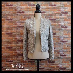 Zara Jackets & Blazers - Zara Metallic Moto Jacket Blazer With Zippers