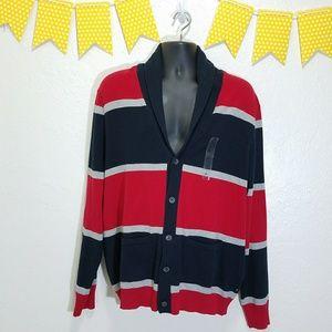 Nautica Other - Nautica Cowl Neck Cardigan USA/British Colors O22