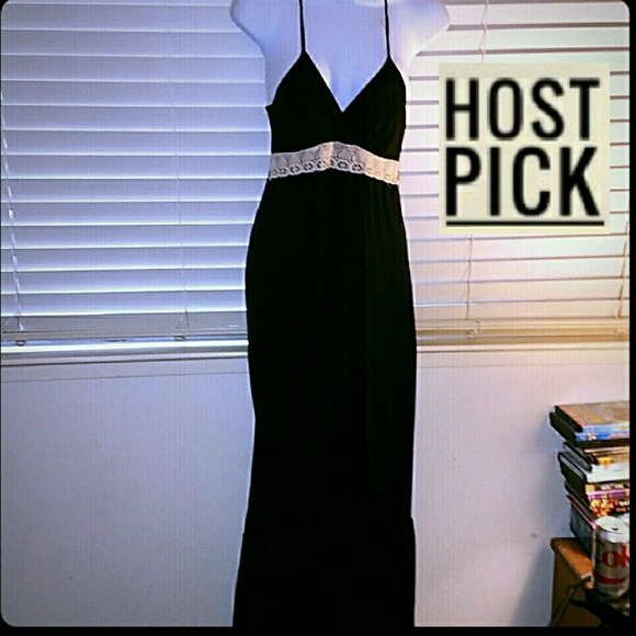 Wet Seal Dresses & Skirts - HP!!! *Black Racerback Maxi w/Lace*