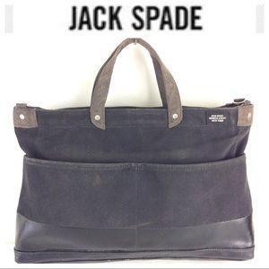 Jack Spade Other - JACK SPADE black tote Bag briefcase canvas laptop