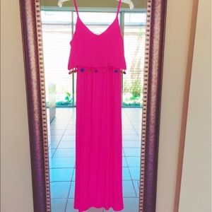 Blush Dresses & Skirts - 🌸NEW Hot Pink BOHO Maxi dress small long sundress