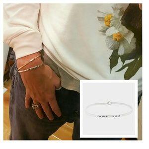 Live What You Love Mantra Hook Bracelet