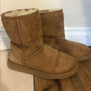 Ugg Camel Ankle Boots