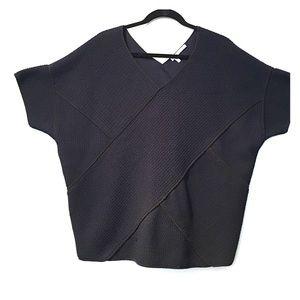 10 Crosby Derek Lam Sweaters - NEW DEREK LAM NAVY COTTON KNIT PONCHO SWEATER