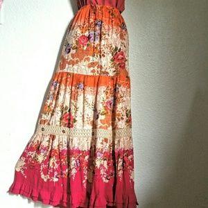 Forbidden Dresses & Skirts - 🌻Forbidden Crinkle Boho Maxi Skirt