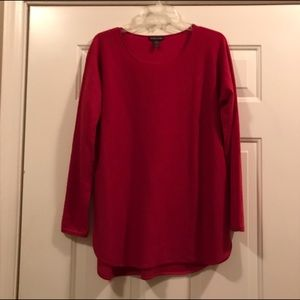 Eileen Fisher Sweaters - Eileen Fisher red 100% cashmere pullover sweater