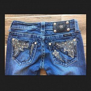 Miss Me Denim - MISS ME 27x32 Embellished Low Rise Skinny Jeans