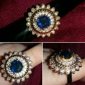 Gold and Cobalt Ring!