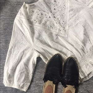 Tops - White eyelet Blouse