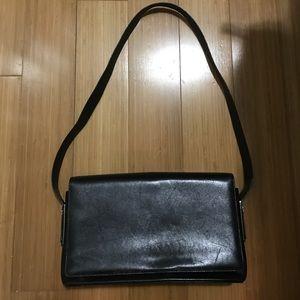 Salvatore Ferragamo Handbags - Authentic Ferragamo black leather shoulder bag