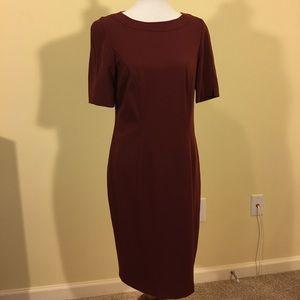 Basler Dresses & Skirts - Basler Maroon Short Sleeve Dress Size 40, US 10