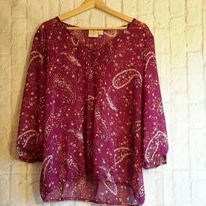 St John's Bay sheer career blouse