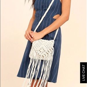 lulus Handbags - Crochet fringe bag.