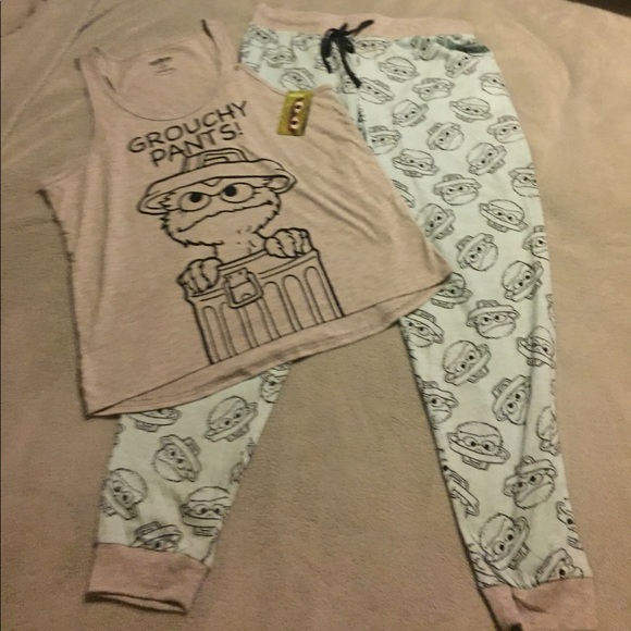 Sesame Street Intimates Amp Sleepwear Oscar The Grouch