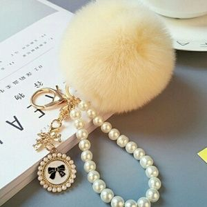 Accessories - 🌷Sale🌷Pom Pom with Bow Charms and Pearls