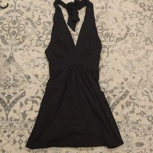 Johnny Black Halter Dress