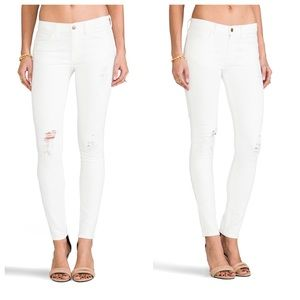 Wildfox Marianne Mid Rise Skinny in White Noise