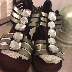 Steve Madden Shoes - Bejeweled gladiator sandals