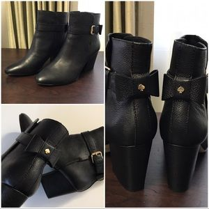 kate spade Shoes - ✨$130✨Kate Spade Black Pebbled Leather Ankle Boots