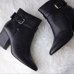 kate spade Shoes - ✨$117✨Kate Spade Black Pebbled Leather Ankle Boots