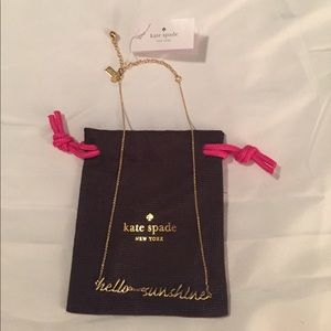 """kate spade Jewelry - 🆕Kate Spade Hello Sunshine 'Say Yes' 16"""" Necklace"""