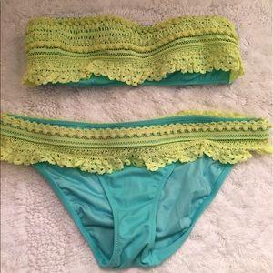 VS Victoria's Secret Crochet Strapless Bikini