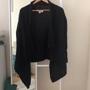 Sweaters - Super Soft Layered Black Cardigan Wrap