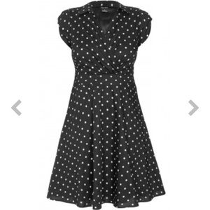 City Chic Retro Fit & Flare Polka Dot Dress