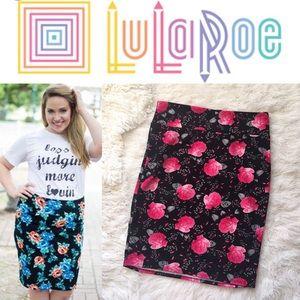 LuLaRoe Dresses & Skirts - Lularoe Cassie Pink Rose Textured Skirt