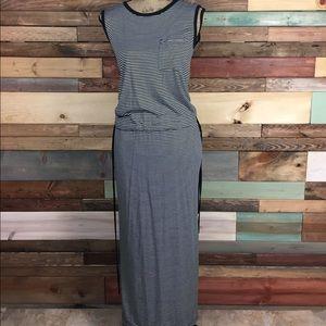 GAP Dresses & Skirts - Gap Black and White Stripe Frocket Maxi Small