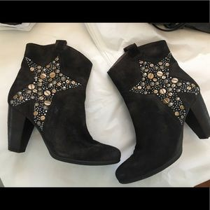 Janet & Janet studded star booties.