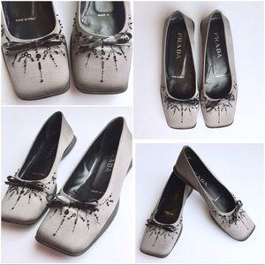 Prada Shoes - 🔥SALE🔥PRADA Grey Flats ✨