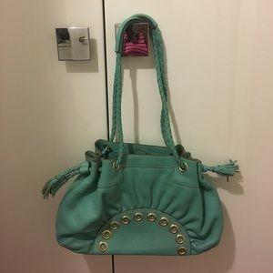 Anya Hindmarch Handbags - Anya Hundmarch robin's egg blue leather purse