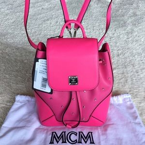 MCM Handbags - MCM CLAUDIA STUDDED BACKPACK- MWK6SCA05